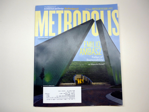 Metropolis magazine, redesigned: when less is still too much