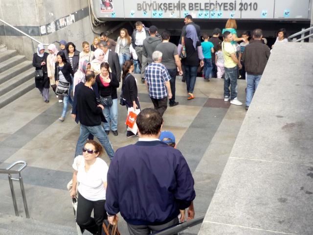 Arial no Centro de Istanbul